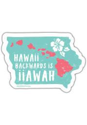 Iowa Hawaii Backward Stickers