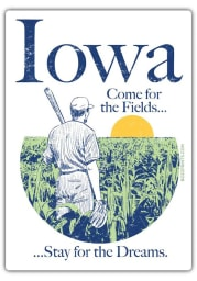 Iowa Come For The Fields Stickers