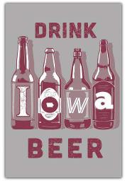 Iowa Drink Beer Postcard