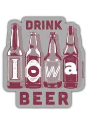 Iowa Drink Beer Stickers