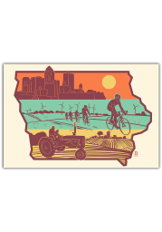 Iowa Layers of Iowa Postcard