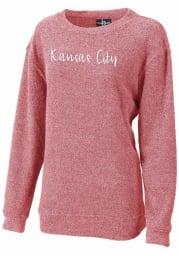 Kansas City Womens Red Script Long Sleeve Crew Sweatshirt