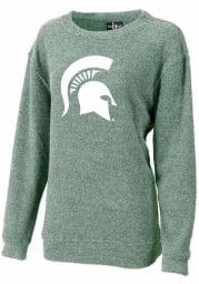 Michigan State Spartans Womens Green Cozy Crew Sweatshirt