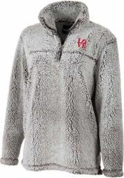 Philadelphia Womens Grey Sherpa 1/4 Zip Pullover