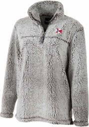 Wichita Womens Grey Sherpa 1/4 Zip Pullover