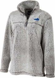 Kentucky Womens Grey Sherpa 1/4 Zip Pullover