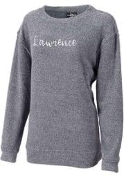 Lawrence Womens Navy Script Long Sleeve Crew Sweatshirt