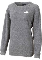 Kentucky Womens Navy State Shape Cozy Crew Sweatshirt
