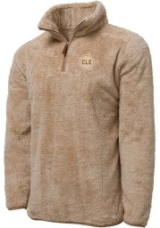 Cleveland Brown CLE Circle Long Sleeve Sherpa 1/4 Zip Pullover