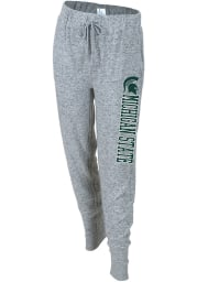 Michigan State Spartans Womens Cuddle Grey Sweatpants