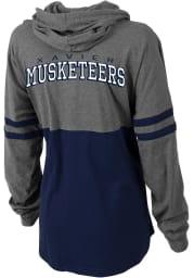 Xavier Musketeers Womens Grey Pom Pom Jersey Hooded Sweatshirt