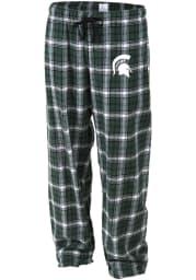 Michigan State Spartans Womens Green Flannel Loungewear Sleep Pants