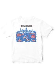 Tammy Smith Design Dallas White Icons Illustration Short Sleeve T Shirt