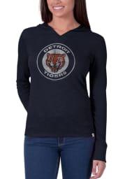 47 Detroit Tigers Womens Navy Blue Vintage Primetime Hooded Sweatshirt
