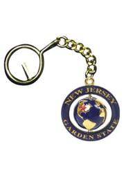 NJ Globe Swivel Keychain