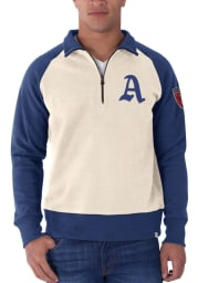 47 Philadelphia Athletics Mens White 1941 Long Sleeve 1/4 Zip Fashion Pullover
