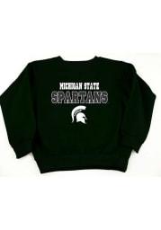 Michigan State Spartans Toddler Green Team Long Sleeve Crew Sweatshirt