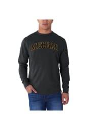 47 Michigan Wolverines Charcoal Arch Long Sleeve Fashion T Shirt