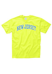 New Jersey Yellow Neon Arch Short Sleeve T Shirt