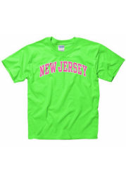 New Jersey Youth Green Neon Arch Short Sleeve T Shirt