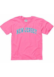 New Jersey Youth Pink Neon Arch Short Sleeve T Shirt