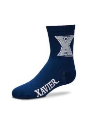 Xavier Musketeers Navy Logo Name Youth Quarter Socks