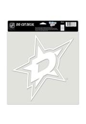 Dallas Stars 8x8 White Auto Decal - White