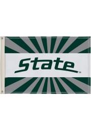 Michigan State Spartans 2x3 White Silk Screen Grommet Flag