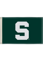Michigan State Spartans 2x3 Green Silk Screen Grommet Flag