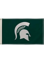 Michigan State Spartans 3x5 Green Silk Screen Grommet Flag