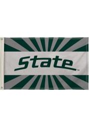 Michigan State Spartans 3x5 White Silk Screen Grommet Flag