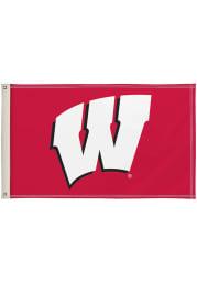 Wisconsin Badgers 3x5 Red Silk Screen Grommet Flag