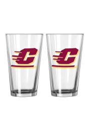 Central Michigan Chippewas Flying C Logo Pint Glass