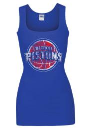 Detroit Pistons Womens Grey Rib Tank Tank Top