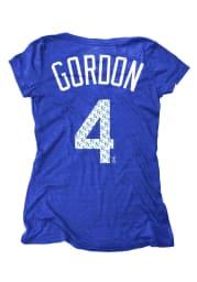 Alex Gordon Kansas City Royals Womens Blue Repeat Player T-Shirt