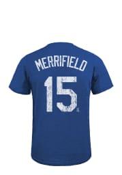 Whit Merrifield Kansas City Royals Blue Tri-Blend Short Sleeve Fashion Player T Shirt