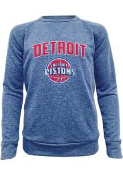 Detroit Pistons Mens Blue Wordmark Long Sleeve Fashion Sweatshirt