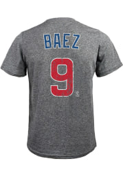 Javier Baez Chicago Cubs Grey Name and Number Short Sleeve Fashion Player T Shirt