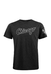 Chicago White Sox Black Wordmark Short Sleeve Fashion T Shirt