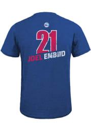 Joel Embiid Philadelphia 76ers Blue Record Holder Short Sleeve Fashion Player T Shirt