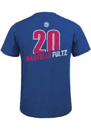 Markelle Fultz Philadelphia 76ers Blue Record Holder Short Sleeve Fashion Player T Shirt