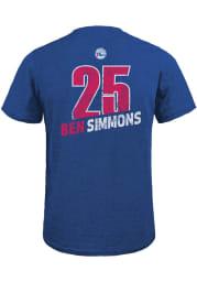 Ben Simmons Philadelphia 76ers Blue Record Holder Short Sleeve Fashion Player T Shirt