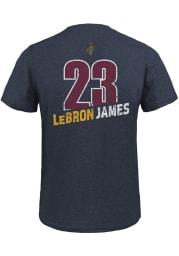 LeBron James Cleveland Cavaliers Navy Blue Record Holder Short Sleeve Fashion Player T Shirt