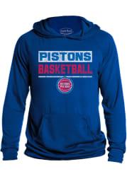 Detroit Pistons Mens Blue Game Time Fashion Hood