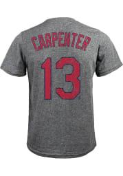 Matt Carpenter St Louis Cardinals Grey Name and Number Short Sleeve Fashion T Shirt
