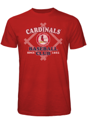St Louis Cardinals Red Bases Loaded Short Sleeve Fashion T Shirt