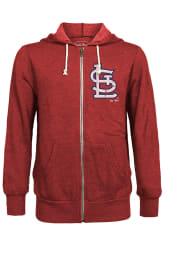 St Louis Cardinals Mens Red Cap Long Sleeve Zip Fashion