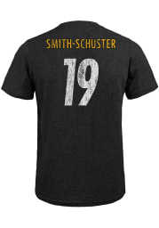 JuJu Smith-Schuster Pittsburgh Steelers Black Name and Number Short Sleeve Fashion T Shirt