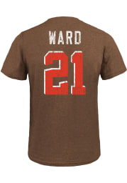 Denzel Ward Cleveland Browns Brown Name And Number Short Sleeve Fashion Player T Shirt