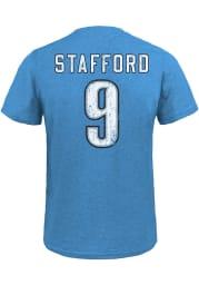 Matthew Stafford Detroit Lions Light Blue Name Number Short Sleeve Fashion Player T Shirt